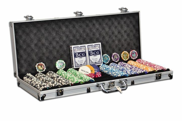 Praktický poker set OCEAN CHAMPION 500 žetonů