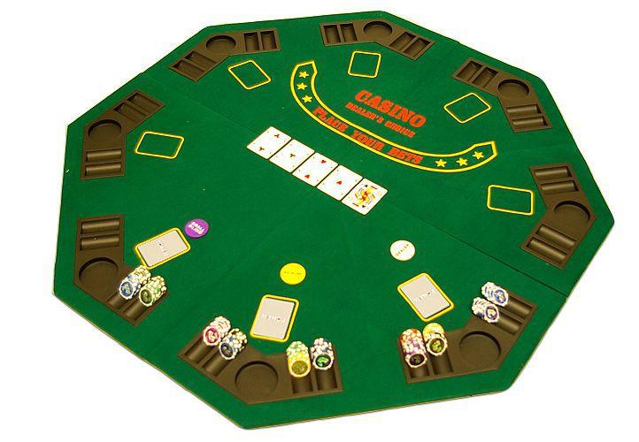 Poker podložka osmihran skládací