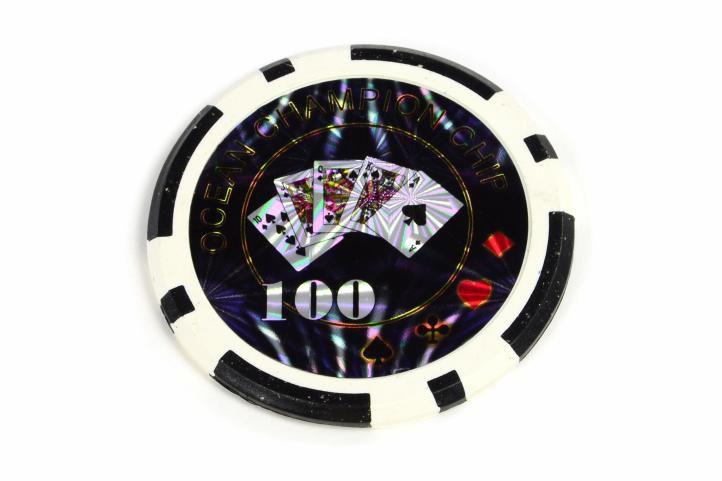 Kusový žeton design Ocean Hodnota 100 - 50 ks