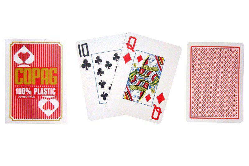 Poker karty Copag Jumbo 2 rohy Red