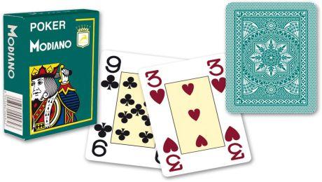 Modiano 4 rohy 100% plastové karty - Zelené