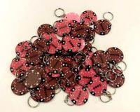 Pokerový přívěšek 48 ks hnědá/růžová