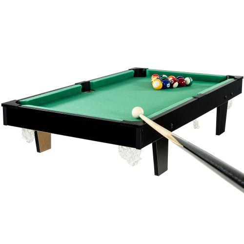Mini kulečník pool s příslušenstvím 92 x 52 x 19 cm - černá