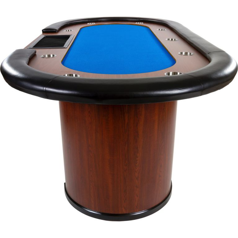 XXL pokerový stůl Royal Flush, 213 x 106 x 75cm, modrá