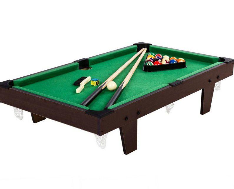 Mini kulečník pool s příslušenstvím 92 x 52 x 19 cm - hnědá