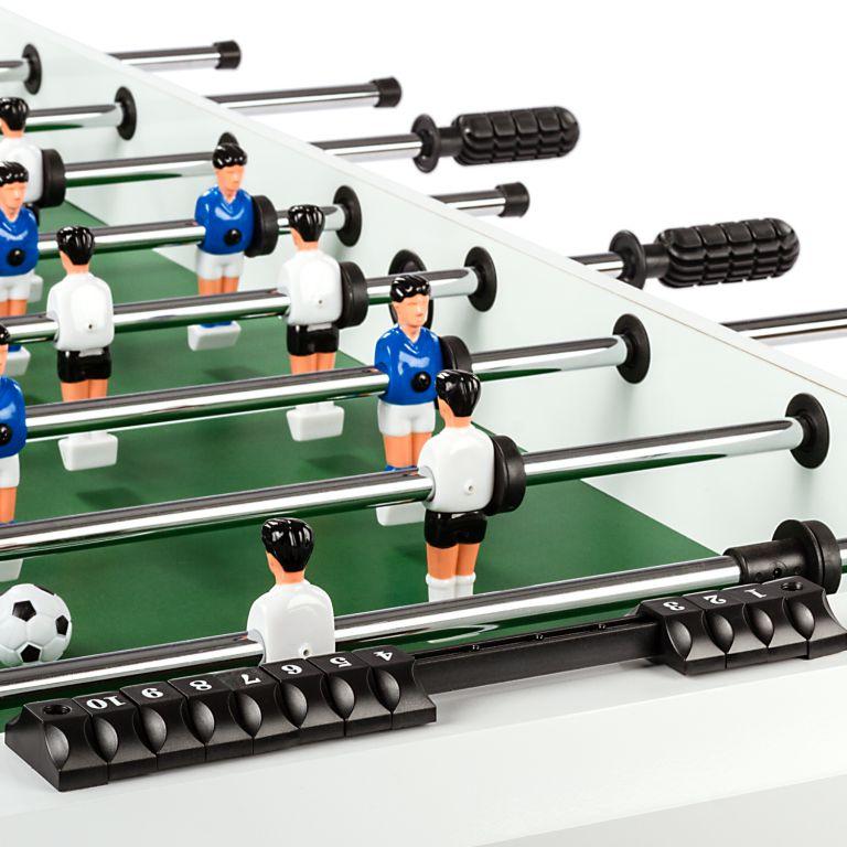 Stolní fotbal Belfast,121 x 101 x 79 cm, rozkládací, bílý
