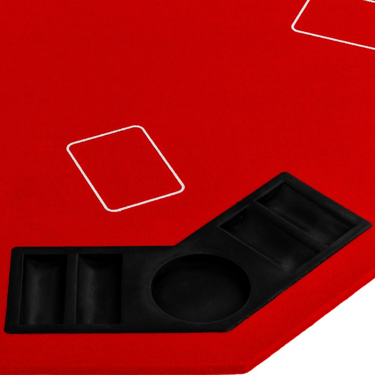 Skládací pokerová podložka - červená