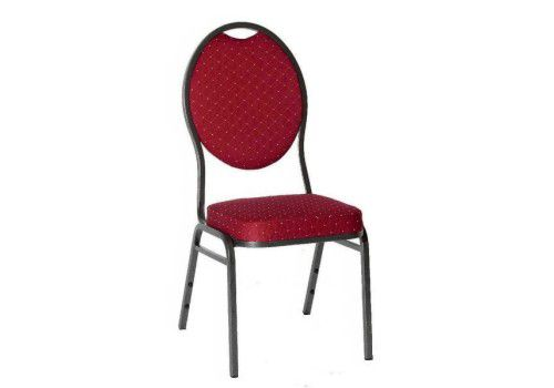 Kongresová židle kovová MONZA- červená